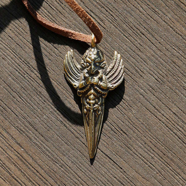 Vintage Tibetan Garuda Bird Adjustable Necklace, Tibetan Buddhism Charm #27 - ZentralDesigns