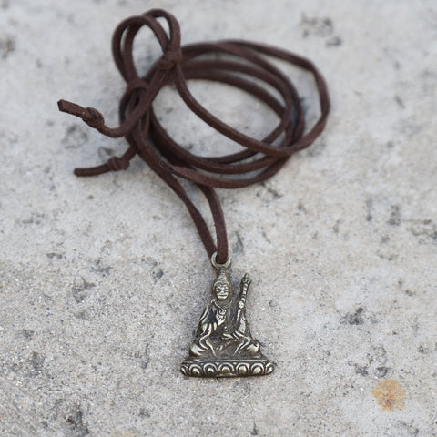 Tibetan Manjushri Symbol Adjustable Necklace, Rear View Mirror Charm #6 - ZentralDesigns