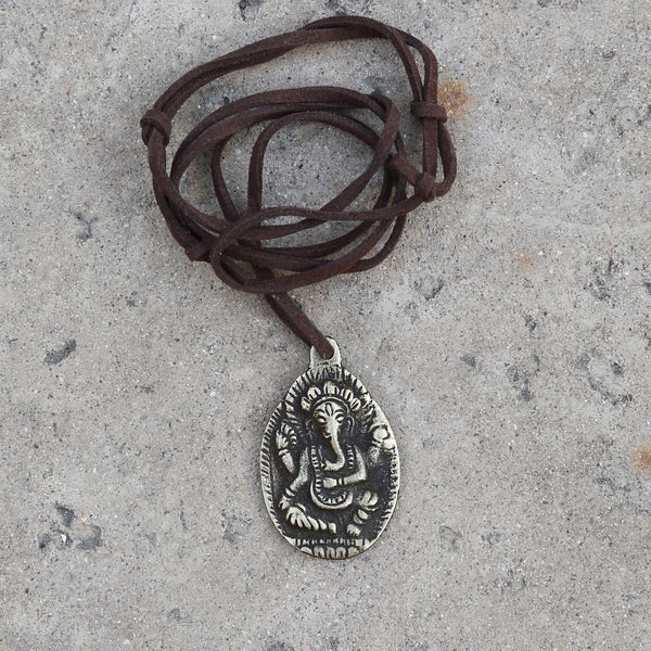Lord Ganesha Adjustable Necklace, Elephant Buddha Protection Car Charm, #12 - ZentralDesigns
