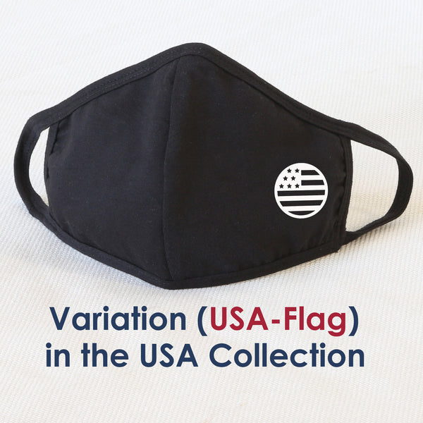 Reusable Cloth Face Mask Covering, USA Flag 2-Layer Washable Cotton Mask