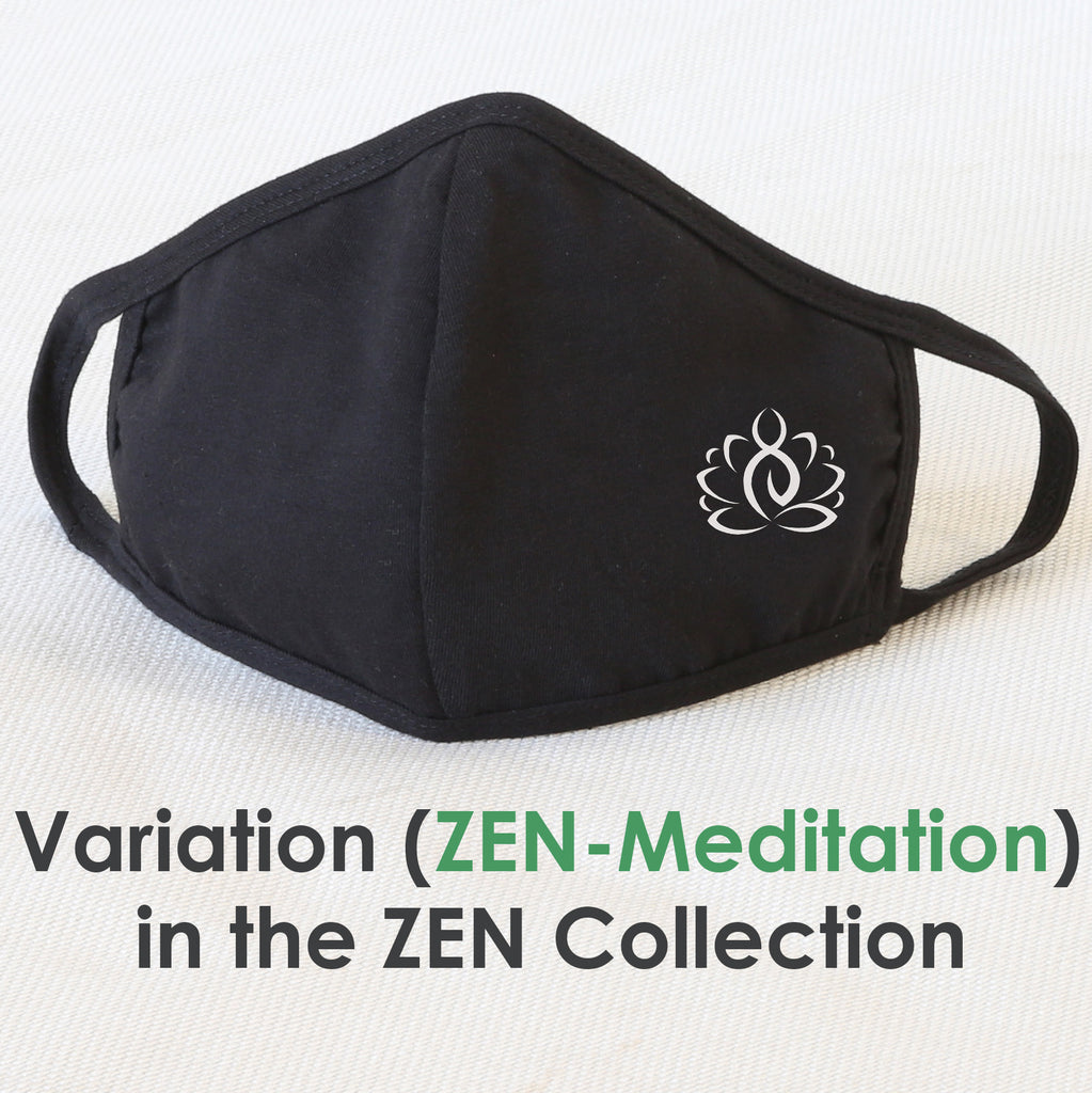 Reusable Cloth Face Mask Covering, Zen Meditation 2-LayerWashable Cotton Mask