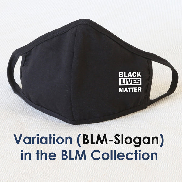 BLM Reusable Cloth Face Mask Covering, Black Lives Matter Fist Logo 2-Layer Cotton Outdoor Mask
