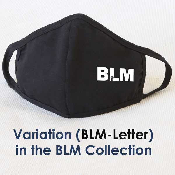 BLM Reusable Cloth Face Mask Covering, Black Lives Matter Slogan 2-Layer Cotton Outdoor Mask