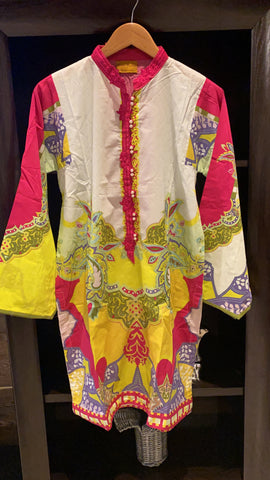 Threads n motifs medium lawn shirt multi color