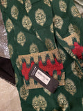 Limelight green n maroon jacquard shirt large