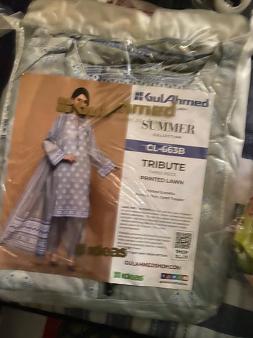 Gul Ahmed design 663B ordered suit