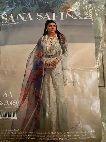 Sana Safinaz design 8A ordered suit lawn
