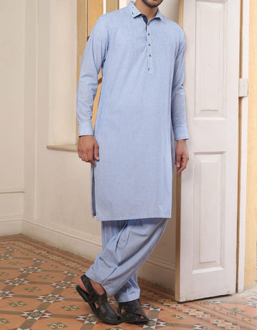 J. Men's blue Salwar Kameez small
