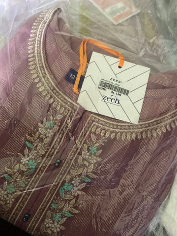 Zeen tea pink medium lawn shirt size 12