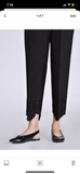Ethnic cotton black pants embroidered large