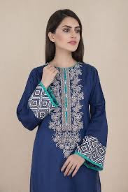 Chinyere xsmal blue shirt lawn