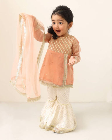 Hopscotch girls gharara outfit 11-12 years gota
