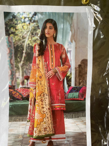 Afsaneh red and green suit large