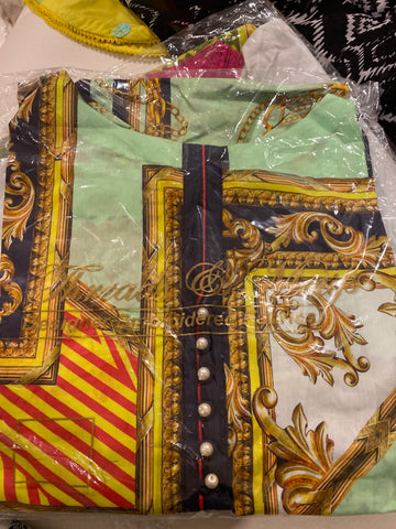Threads n motifs small lawn shirt green