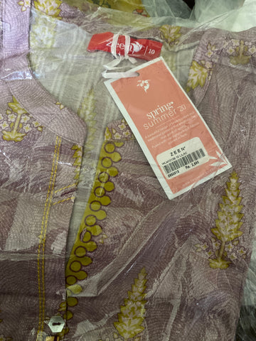 Zeen Lawn tea pink size 10 small shirt