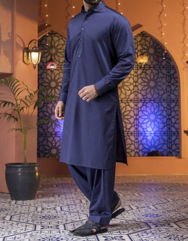 J. Men's navy blue Salwar Kameez small