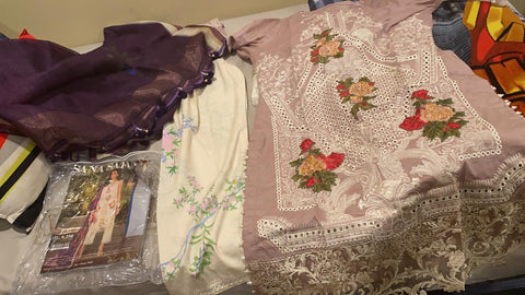 Sana Safinaz tea pink suit 3 piece medium 12B