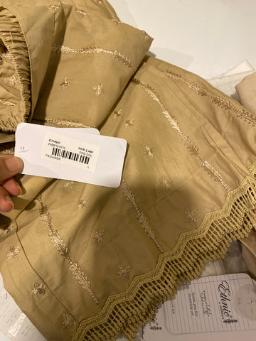 Ethnic beige trousers large cotton