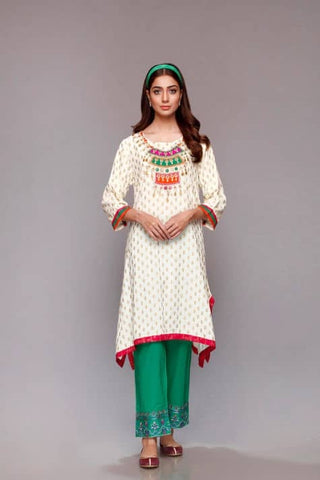 Rang Ja jewel motif off white shirt small