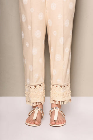 Ethnic large cream pants