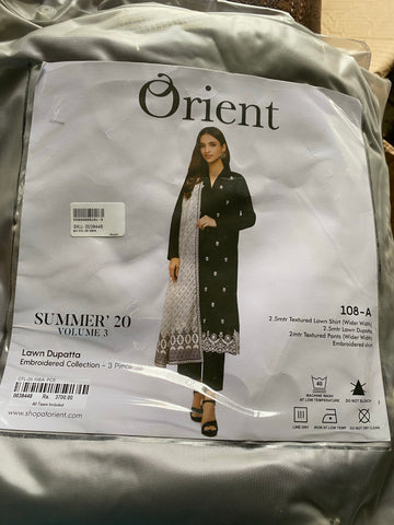 Orient black n white 3 piece suit