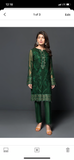 Baroque green 3 piece suit large chiffon