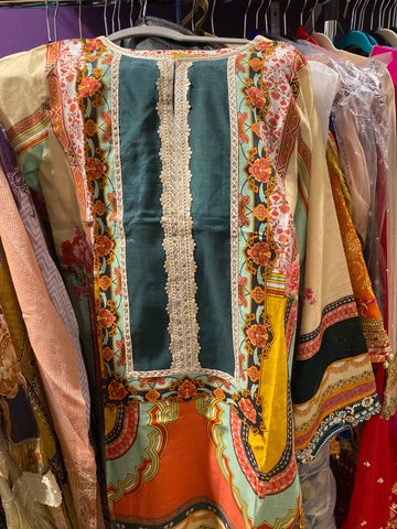 Threads n motifs medium silk shirt n dupatta