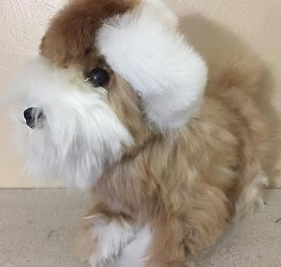 SWEET PUPPY!! Fur is 100% BABY ALPACA fleece! LOOK!>>>>>