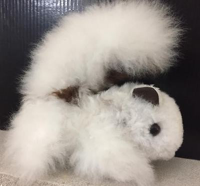 Absolutely Adorable Alpaca Fleece-Covered White and Brown SQUIRREL! LOOK>>>>>>>>