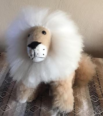 "Adorable Stuffed Lions with 100% Baby Alpaca! 11-12"" Tall"