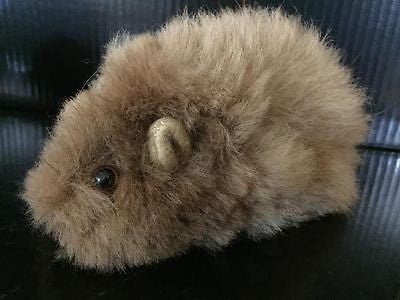 "UNBELIEVABLY CUTE!! Tiny Stuffed Guinea Pig in 100% Baby Alpaca Fleece! 7"" Long"