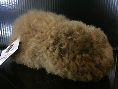 "UNBELIEVABLY CUTE!! Tiny Stuffed Guinea Pig in 100% Baby Alpaca Fleece! 8"" Long"