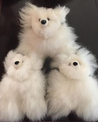 100% Baby Alpaca TINY White Pocket-size Teddy Bears!! SOOO ADORABLE!