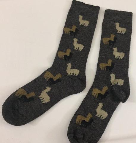 "ALPACA BAMBOO CASUAL ""HERD"" SOCKS"