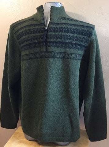 ORION HALF ZIP MEN'S SWEATER--THIS WILL BECOME A FAVORITE!! 100% ALPACA!!!