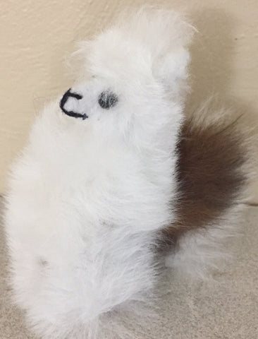 Alpaca Figurine of 100% BABY ALPACA FLEECE!