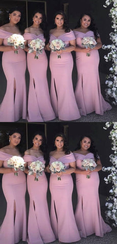 Cap Sleeves Rose Pink Sheath Bridesmaid Dress AHB019