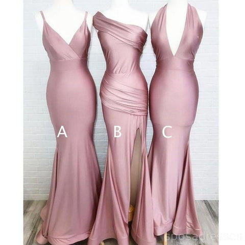 Mix Match Strech Mermaid Long Bridesmaid Dress AHB032