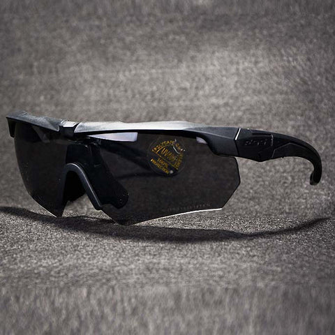 Tactical Military Polarized Sunglasses w Eyeshield 3 Lenses