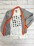 White Vneck Heart Tee-NEVER LOSE HOPE-Sunshine Boutique Camden TN