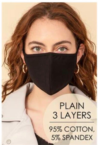 Black 3-ply stretch masks-HYFIVE-Sunshine Boutique Camden TN