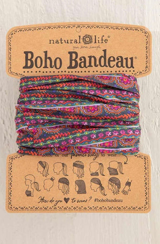 Multi Print Boho Bandeau-NATURAL LIFE-Sunshine Boutique Camden TN