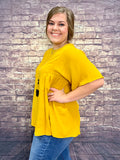 RoundNeck Blouse- More Colors-LIME-N-CHILI-Sunshine Boutique Camden TN