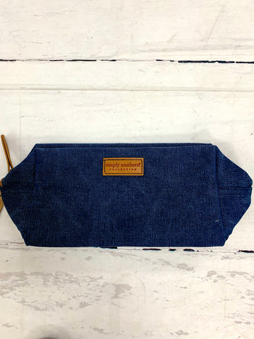 Men's Navy Toiletry Travel Case-SIMPLY SOUTHERN-Sunshine Boutique Camden TN