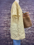 Mustard Gingham Top-LIME-N-CHILI-Sunshine Boutique Camden TN