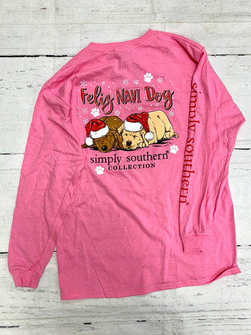 Youth Feliz Navi Dog Tee-SIMPLY SOUTHERN-Sunshine Boutique Camden TN