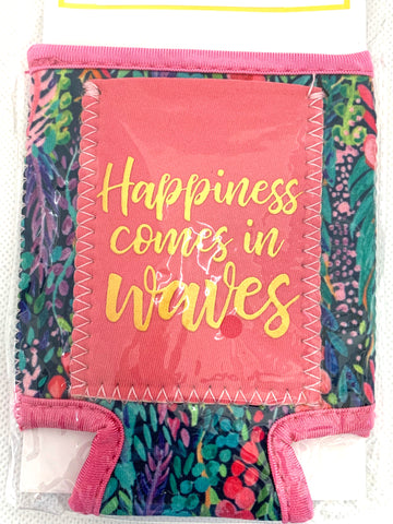 Beverage Sleeve Happiness Comes in Waves-MARY SQUARE-Sunshine Boutique Camden TN