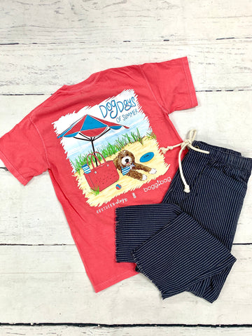 Coral Dog Days of Summer Tee-SOUTHERNOLOGY-Sunshine Boutique Camden TN