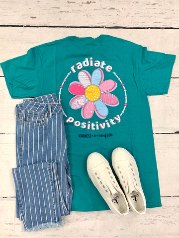 Radiate Positivity Tee-JADELYNN BROOKE-Sunshine Boutique Camden TN
