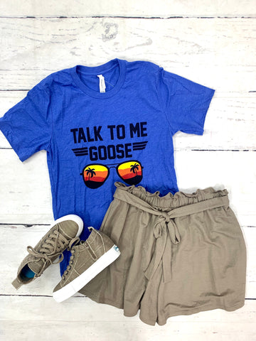 Royal Talk to Me Goose Tee-KISSED APPAREL-Sunshine Boutique Camden TN